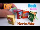 DIY Miniature Book | DollHouse | No Polymer Clay!