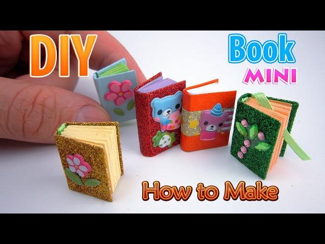 DIY Miniature Book | DollHouse | No Polymer Clay!