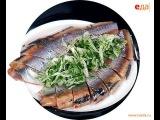 Селёдка с маринованным луком и укропом  рецепт от шеф-повара  Илья Лазерсон  Об ...