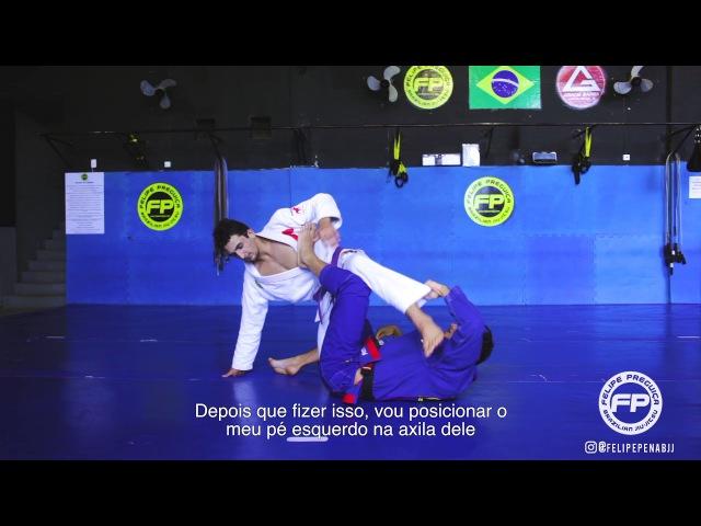 Inverted De la Riva to knee bar - Felipe Pena Preguiça
