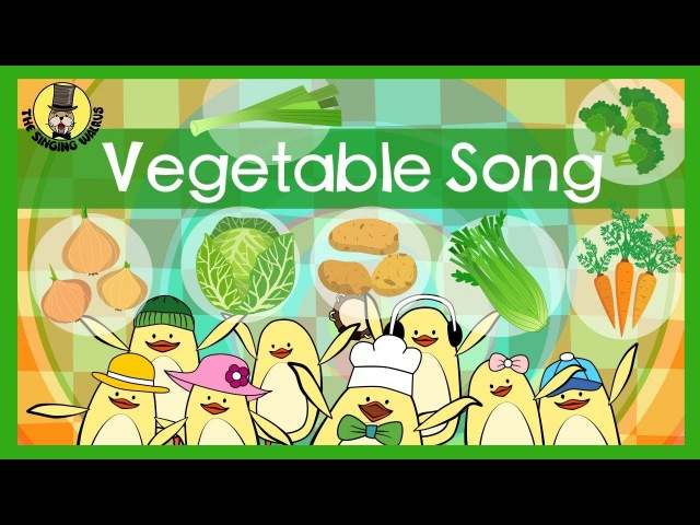 Vegetable Song | Songs for kids | The Singing Walrus