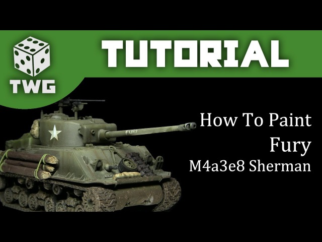 Airbrush Tutorial: How To Paint 'Fury' - Rubicon Models Sherman M4a3e8