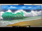 Art Lesson  How to create a realistic Wave with H2o Water Mixable Oil Paints