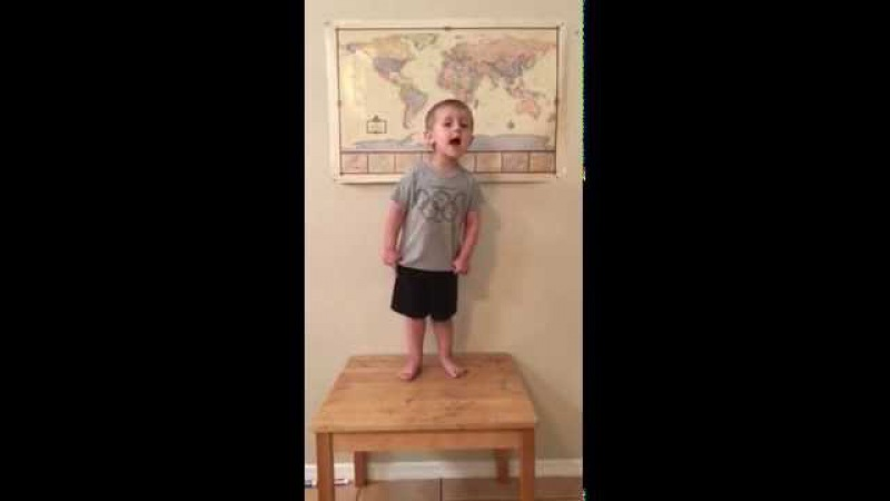 Adorable Toddler Nails Gavroche's Solo From