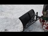 Мотоблок с отвалом для уборки снега (зимой) и земли(летом).Первое испытание моего изобретения.