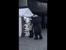 [18.01.2018] Талисманы Зимних Олимпийских игр возле Osaka-Jo Hall