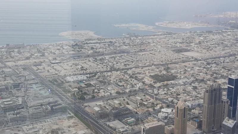 Дубай,вид с башни Буш Халиф