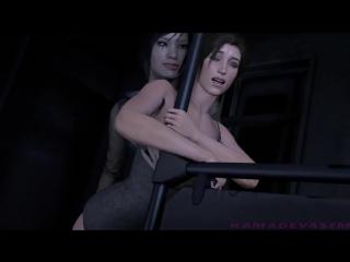 Lesbian lara porn croft