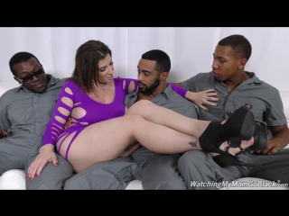 [watchingmymomgoblack] sara jay [hd 1080, 3 on 1, big tits, black, blowjob, creampie, cumshot, facial, interracial, milf, sex]