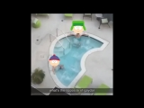 two bros chilling in a hot tub | South park | Style