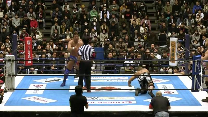 [My1] НЖПВ: A Блок Матч - Manabu Nakanishi Yuji Nagata vs. Yujiro Takahashi Hangman Page