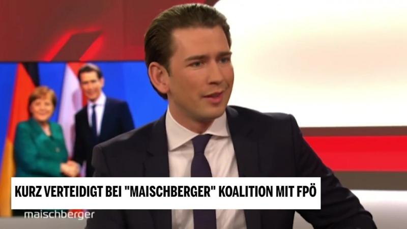 Kurz verteidigt bei -Maischberger- Koalition mit FPÖ