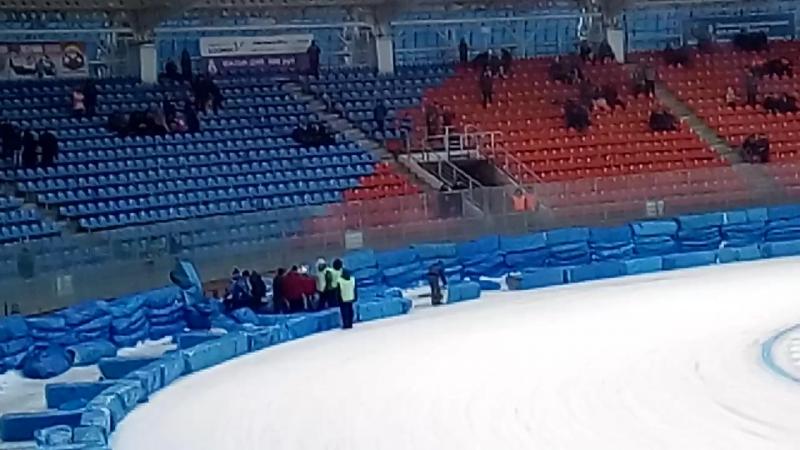 Падение Никиты Шадрина. Ледовый спидвей 2017г.