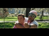 Watch The Rock And Zac Efron Try To Ride A Pink Scooter Toge - deleted scene