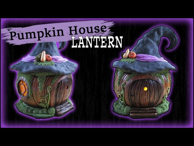 Polymer Clay Fantasy Pumpkin House Lantern Tutorial || Maive Ferrando