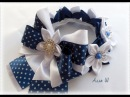 Резинка на пучок в школу МК / DIY Kanzashi Flower / DIY Hair Bun Scrunchies Headband