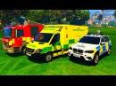 Мультики про Машинки для детей Цветные Машинки Пожарная Машина Полицейская Маш ...