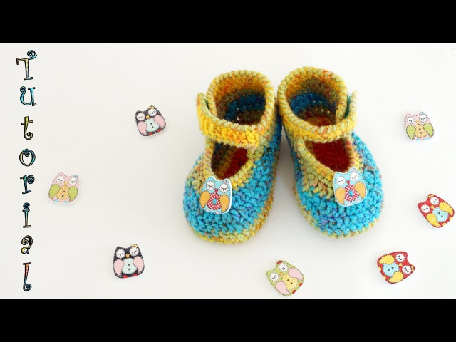 ♥ Пинетки крючком на липучках ♥ Мастер-класс ♥ Baby booties tutorial ♥ Crochetka design DIY