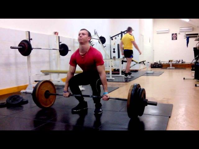 Становая тяга мой новый рекорд 160кг   My new deadlift record 160 kg my new record