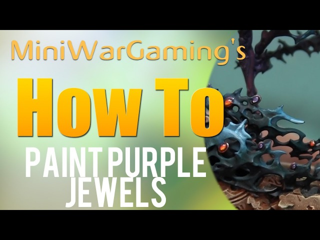 How To Paint Purple Jewels