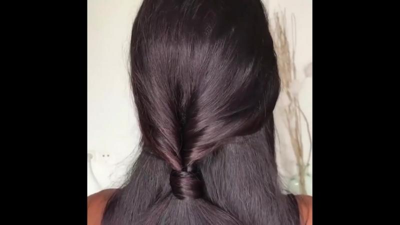 Классная идея для длинных волос!