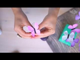 Очень просто делаем бабочки из фоамирана