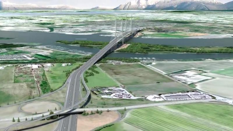 Проект нового моста, который заменит устаревший Тоннель Джорджа Месси в Британской Колумбии