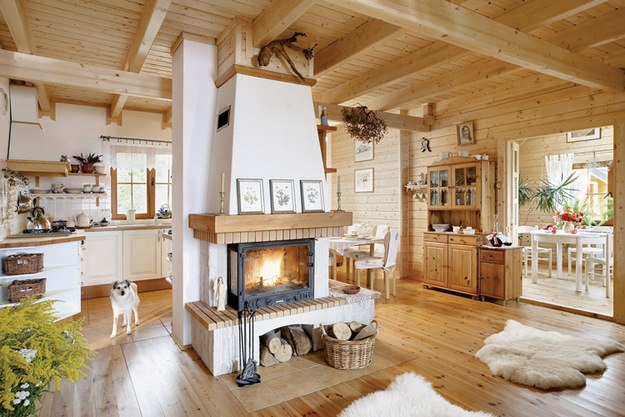 Уютный дачный домик из клееного бруса