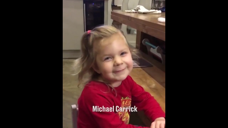 Cute little girl Nyah Rose Lee naming Manchester United players)