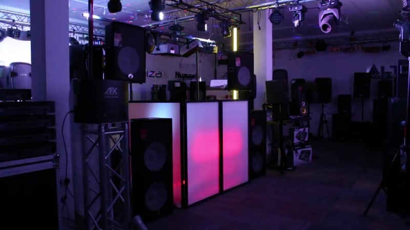 Vonyx 4 Panel Facade Front Lighting Mobile DJ Disco Booth Screens Foldable Panel