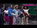 8 декабря: Зендая, Зак Эфрон и Хью Джекман на съемках шоу Джеймса Кордена — «Crosswalk: The Musical» в Нью-Йорке