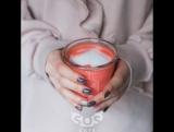 Латте красный бархат в sos.cafe