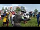 Массовый бой рыцарей в Бийске на фестивале истории и фэнтези Меч в камне