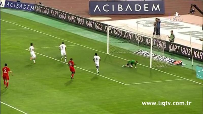 2013 - 2014 Sezonu - Beşiktaş-Gaziantepspor dakika 35 gol Hugo Almeida