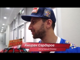 Амиран Сардаров (Дневник Хача) на матче Россия-Канада
