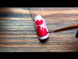 Дизайн ногтей с втиркой. Мешок зимних подарков. Дизайн ногтей. Роспись гель лаками. Рисунок на ногтях