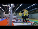 Lydia Valentin Training Hall at 2017 Europeans_ Power Snatch, Power Clean, Back