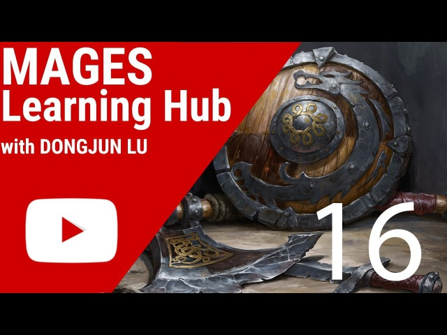 Digital Painting Tutorial 16 - Viking Weapon Study