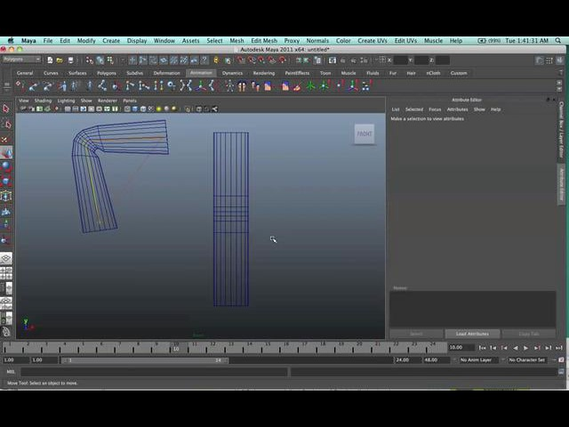 Transfer UV onto a rigged and animated model in Maya.