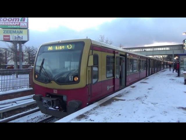 S-Bahn Berlin - Züge am verschneiten Bhf. Storkower Straße - mit 480 481!