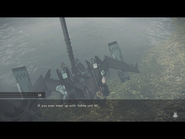 NieR: Automata 2B's Message to 9S (Flooded City Flight Unit)