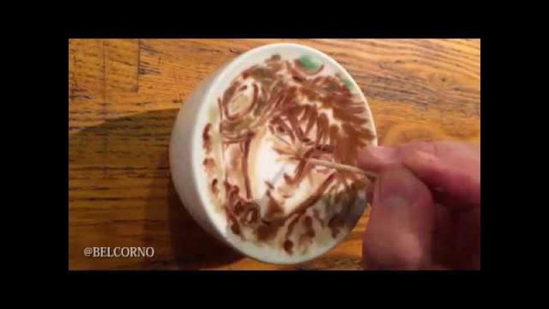 LatteArt【JoJo】~ ラテアート【ジョセフ・ジョースター】@ジョジョの奇妙な冒険