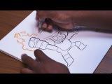 OK K.O.! Let's Be Heroes  Ruby &amp KO Speed Drawing  Cartoon Network