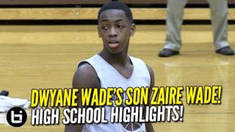 Dwyane Wade's son Zaire Wade, nephew Dahveon Morris Team Up! High School Highlights!
