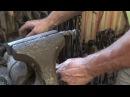 Forging a mini railroad spike knife