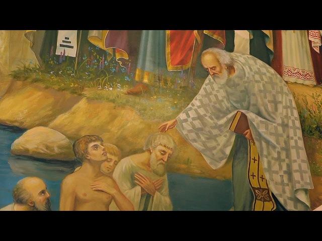 видеосъемка крещения, крестин в Свято-Пантелеимоновском храме.