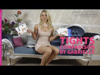Gabrielle - sheer tights comparison - Gabriella vs Charnos (YouTube Edit)