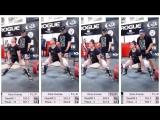 Джина Аверса тянет 1 подход 230 кг, 2 подход 242.5 кг, 3 подход 248.5 кг, 4 подход 252.5 кг без экипировки