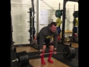 Адам Бишоп,  тяга 370 кг на 4 раза