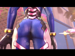 SFM Giantess Butt Crush | Dva's NERF THIS